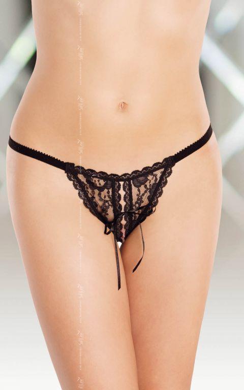 Bikini Dantela Neagra Sexy String