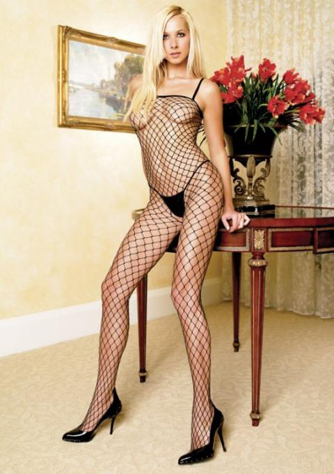 Bodystocking Negru Industrial Fishnet