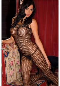 Bodystocking Negru Quarter Crochet