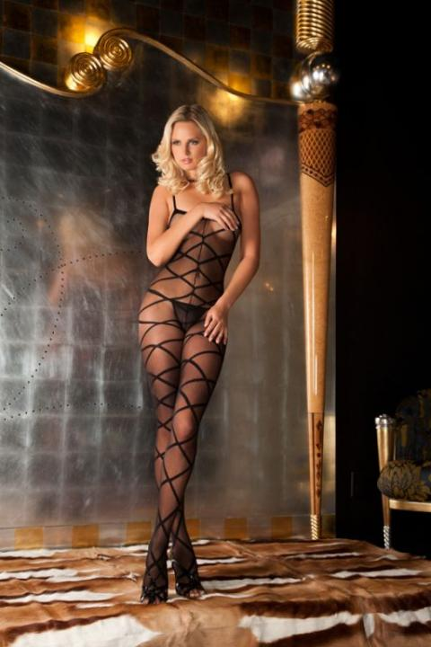 Bodystocking Provocator Strapped Up Sheer