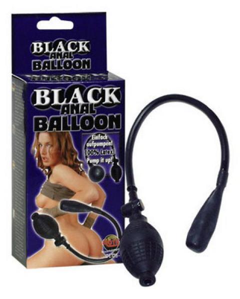 Butt Plug Anal Baloon Negru