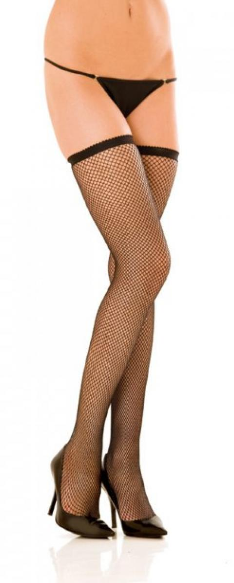 Ciorapi Negri Fishnet Thigh High