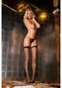 Ciorapi Plasa Neagra Sparkle Diamond Net
