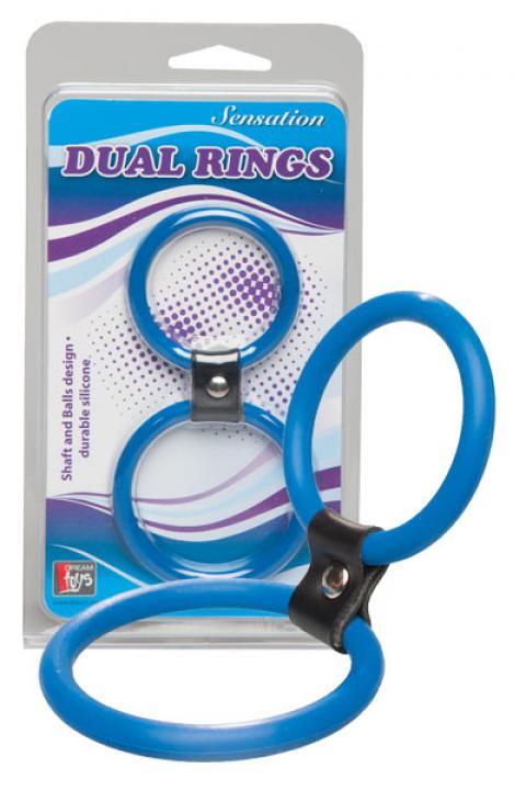 Inel albastru Dual Rings