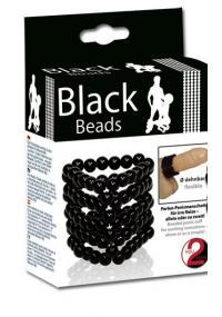 Inel pentru Penis Black Beads