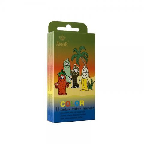 Prezervative Colorate Amor 12 bucati