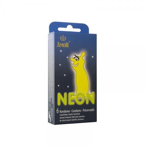 Prezervative Fosforescente Amor Neon 6 bucati